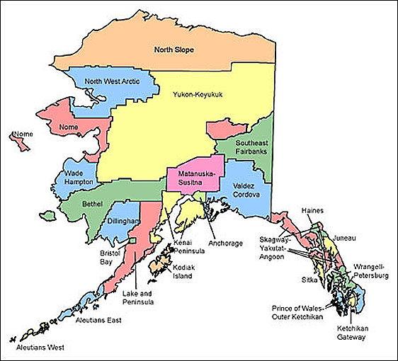 Alaska - Alaska county map